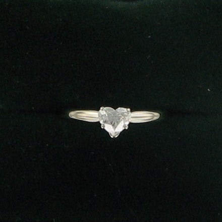 Lady's Diamond Solitaire Ring .52 CT. 14K White Gold 1.3dwt