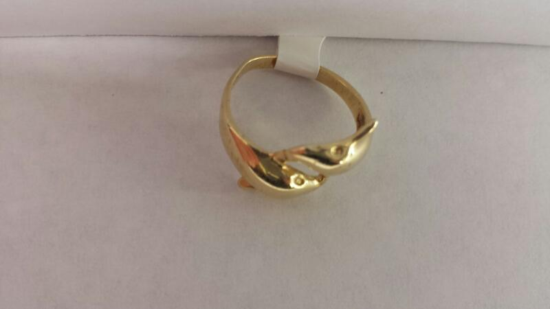 """14k Yellow Gold Ring """"Dolphin"""""""