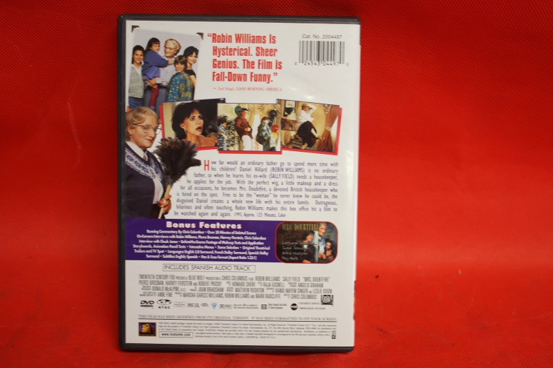 Mrs. Doubtfire (DVD, 2010) Robin Williams Sally Field Full SCREEN Edition