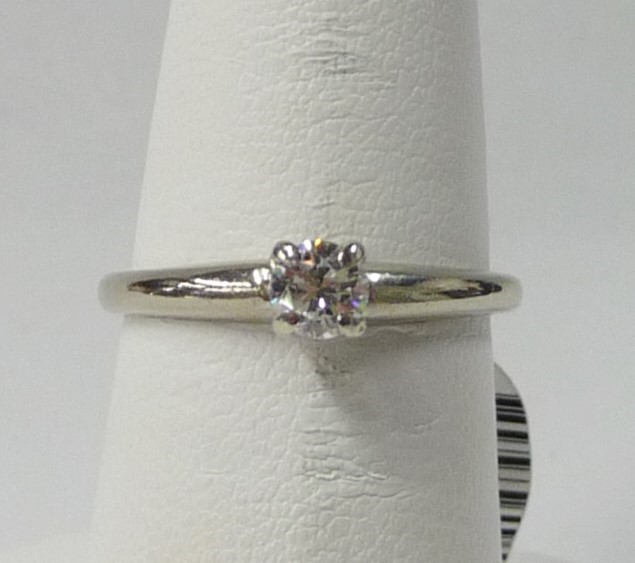 Lady's Diamond Engagement Ring .25 CT. 14K White Gold 1.43dwt