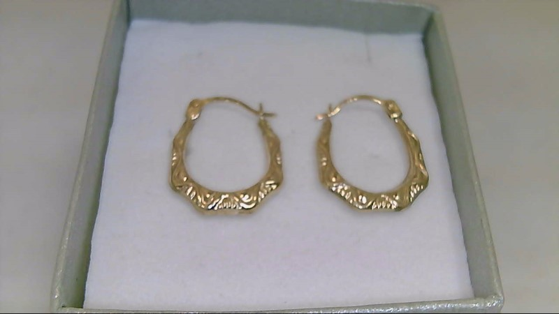 Gold Earrings 10K Yellow Gold 0.5g