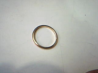 Lady's Gold Wedding Band 14K Yellow Gold 1.6g