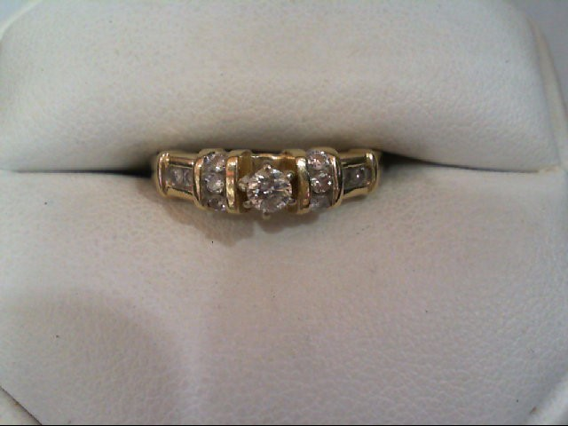 Lady's Diamond Engagement Ring 11 Diamonds .35 Carat T.W. 14K Yellow Gold 2.6g