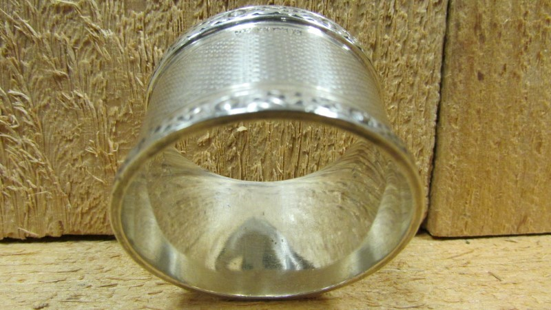 Antique JB CHATTERLEY Flatware SILVER NAPKIN RING