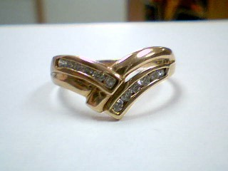 Lady's Diamond Fashion Ring 12 Diamonds .24 Carat T.W. 10K Yellow Gold 3.2g