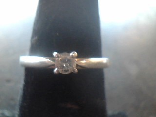 Lady's Silver-Diamond Ring .20 CT. 925 Silver 1.8dwt Size:7