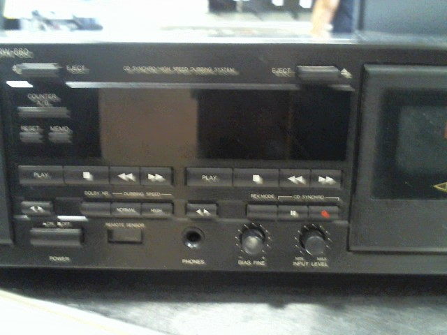 DENON Tape Player/Recorder DRW-660 DOLBY B&C HX-PRO