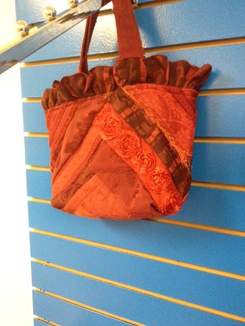 RED RUFFLE BAG