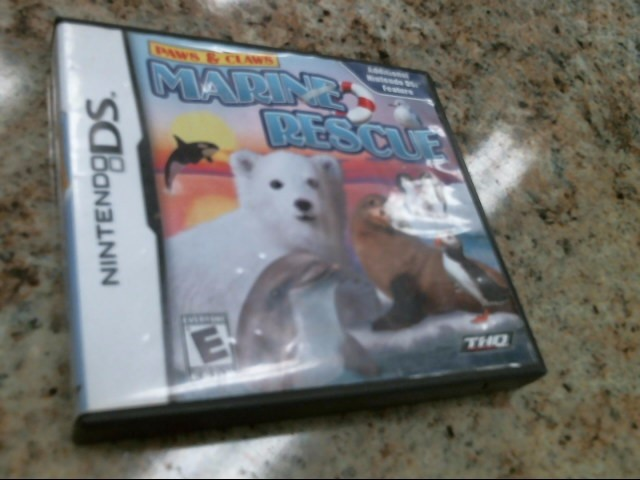 NINTENDO Nintendo DS Game PAWS & CLAWS MARINE RESCUE