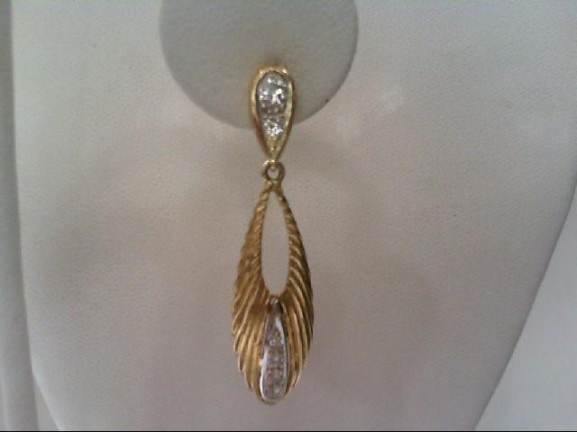 Gold-Diamond Earrings 12 Diamonds .66 Carat T.W. 14K Yellow Gold 7.2g