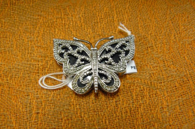Silver-Diamond Pendant 20 Diamonds .20 Carat T.W. 925 Silver 4.92dwt