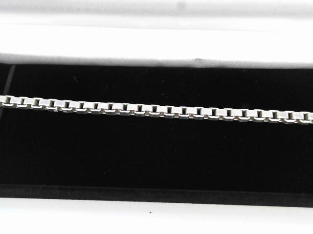 Silver Box Bracelet 925 Silver 9.24dwt