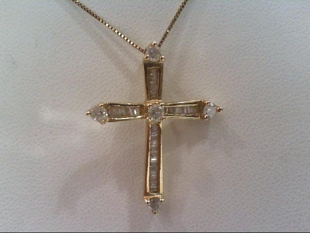 Gold-Multi-Diamond Pendant 36 Diamonds .61 Carat T.W. 14K Yellow Gold 3.4g