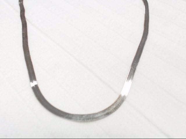 """17"""" Silver Herringbone Chain"""