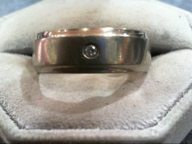 Gent's Diamond Ring .05 CT. Silver Titanium 4.5g