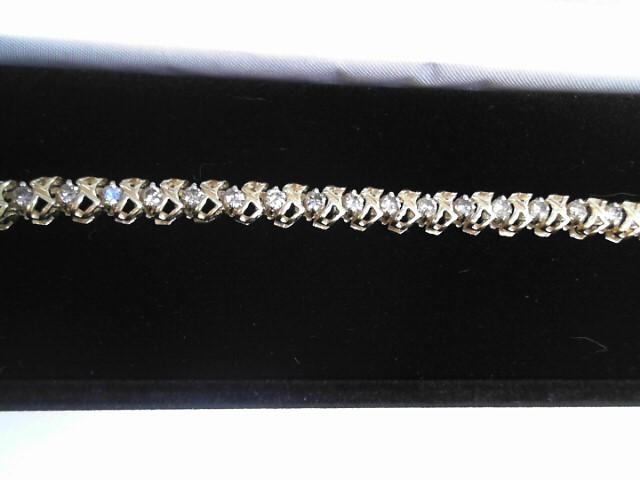 Gold-Diamond Bracelet 34 Diamonds 1.70 Carat T.W. 14K Yellow Gold 9.1dwt