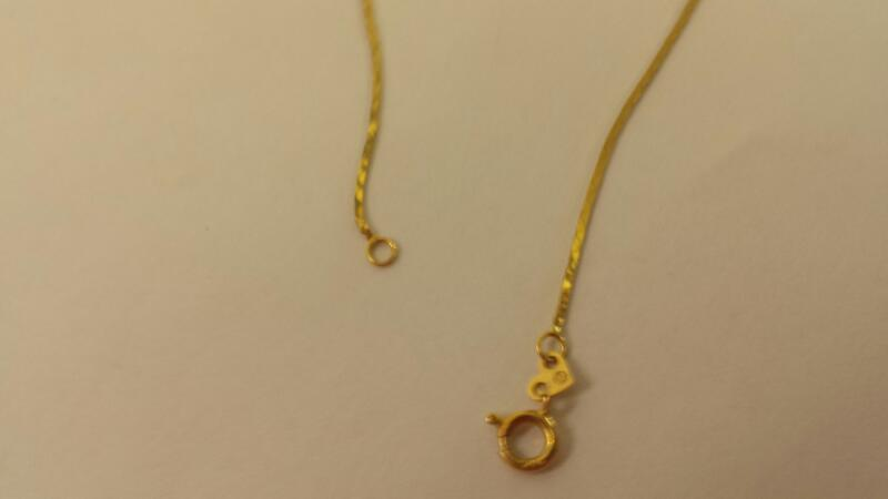 "19"" LDS 14KT Gold Herringbone Chain BOX 14K Yellow Gold 0.8dwt"