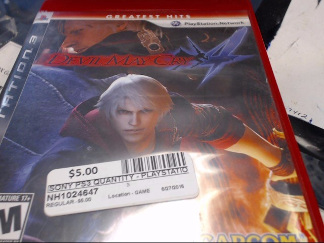 SONY PS3 DEVIL MAY CRY