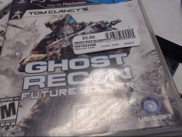 PS3 GHOST RECON FUTURE SOLIDER