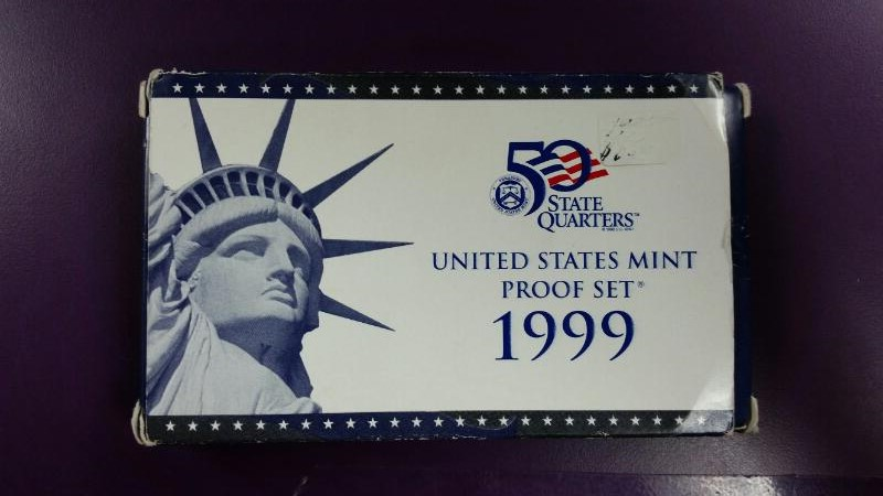1999 S Mint Proof Set 50 State Quarters Collection 9 Coin Set