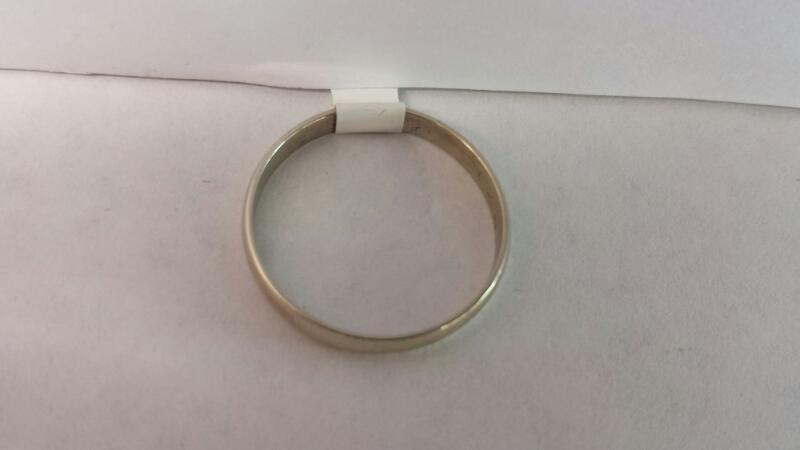 10k White Gold Band