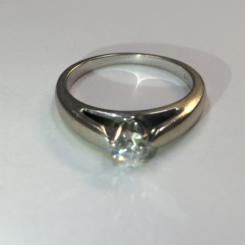 Lady's Diamond Solitaire Ring .33 CT. 14K Yellow Gold 2.8dwt