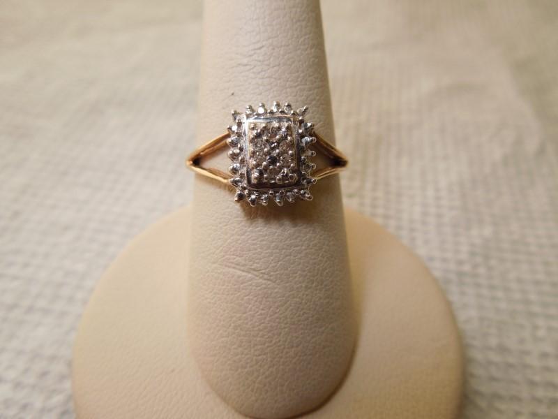 Lady's Diamond Fashion Ring 6 Diamonds .06 Carat T.W. 10K Yellow Gold 2.4g