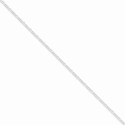 """20"""" Silver Figaro Chain 925 Silver 6.55g"""