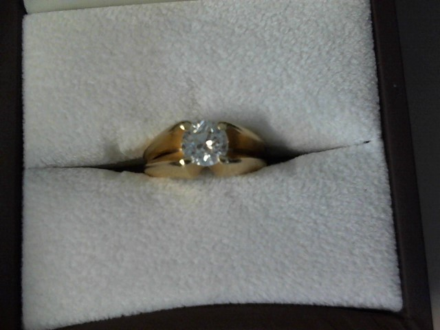Lady's Diamond Solitaire Ring 1.00 CT. 14K Yellow Gold 4.9dwt Size:6.5