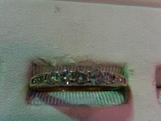 Lady's Diamond Wedding Band 11 Diamonds .40 Carat T.W. 14K Yellow Gold 3.2g