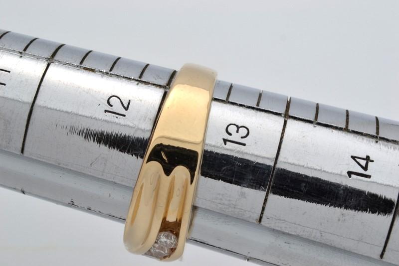 VINTAGE 5 NATURAL DIAMOND WEDDING RING BAND REAL SOLID 14K GOLD 12.5