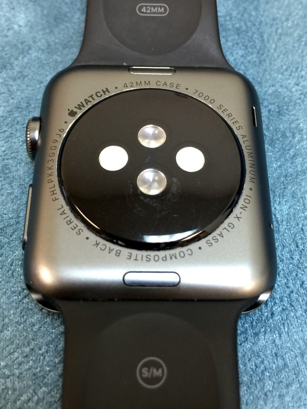 Apple Watch Sport Space Gray Aluminum Black Sport Band 42mm (S/M) AS-IS