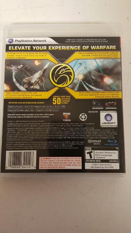 Tom Clancy's HAWX - Playstation 3  FREE SHIPPING