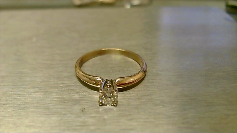 Lady's Diamond Solitaire Ring .28 CT. 14K Yellow Gold 1.9g