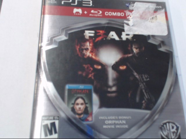FEAR 3 PS3 GAME
