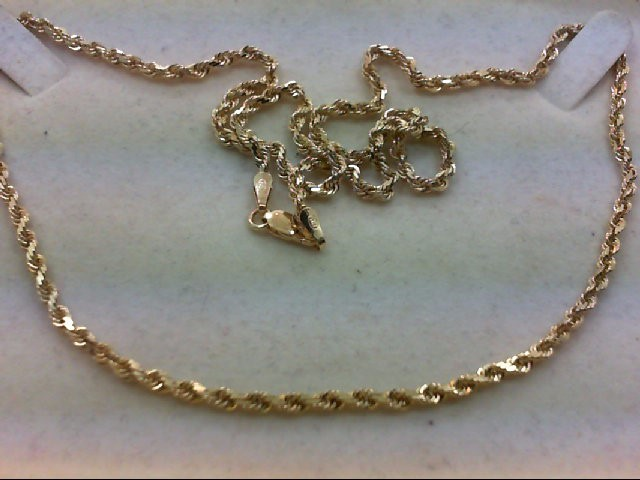 """22"""" Gold Rope Chain 14K Yellow Gold 14.9g"""