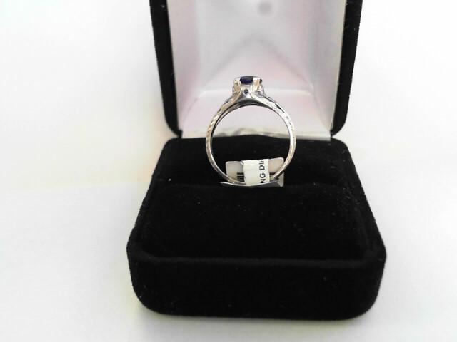 Antique Blue Stone Lady's Platinum-Stone Ring 950 Platinum 2dwt Size:7.5