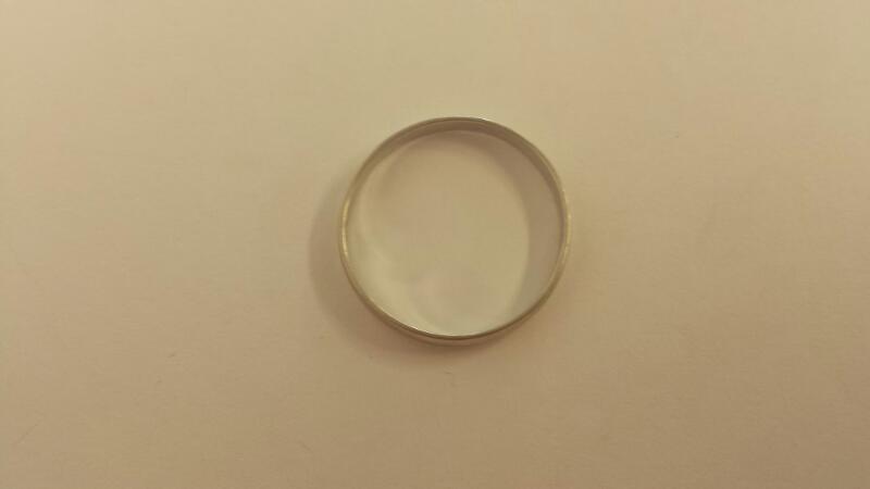 Gent's Gold Ring 14K White Gold 1.2dwt Size:12