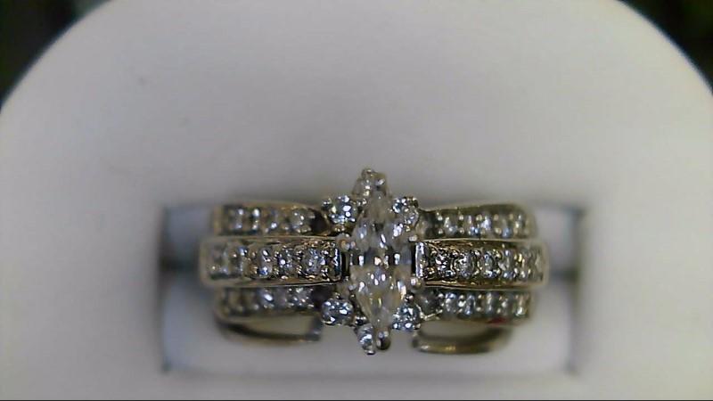 Lady's Diamond Wedding Set 39 Diamonds .65 Carat T.W. 14K White Gold 5.1g