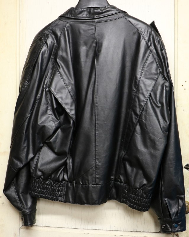 WILSONS LEATHER Coat/Jacket BLACK LEATHER JACKET