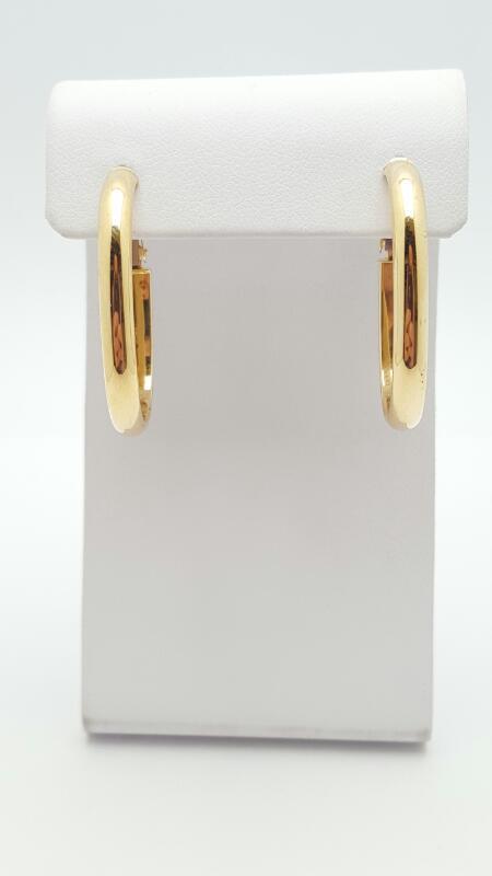 Gold Earrings 14K Yellow Gold 2.3g