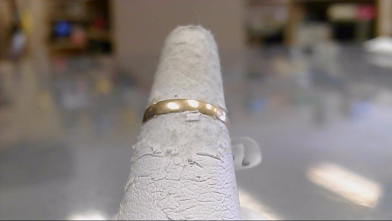 Lady's Gold Wedding Band 18K Yellow Gold 0.6g