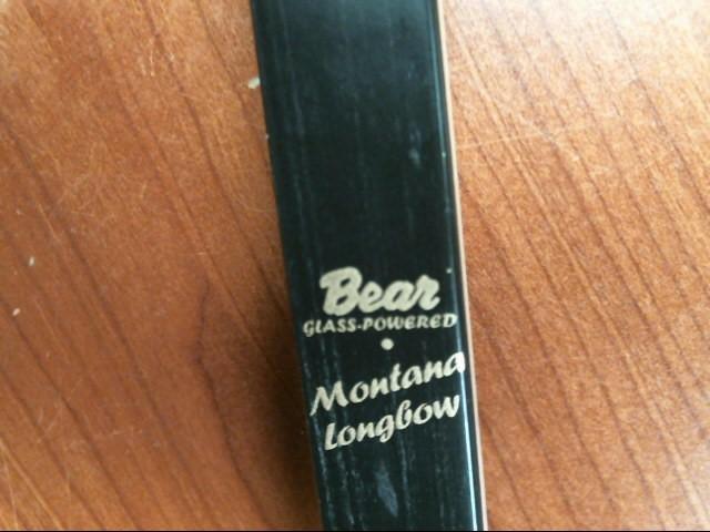 BEAR ARCHERY MONTANA LONG BOW