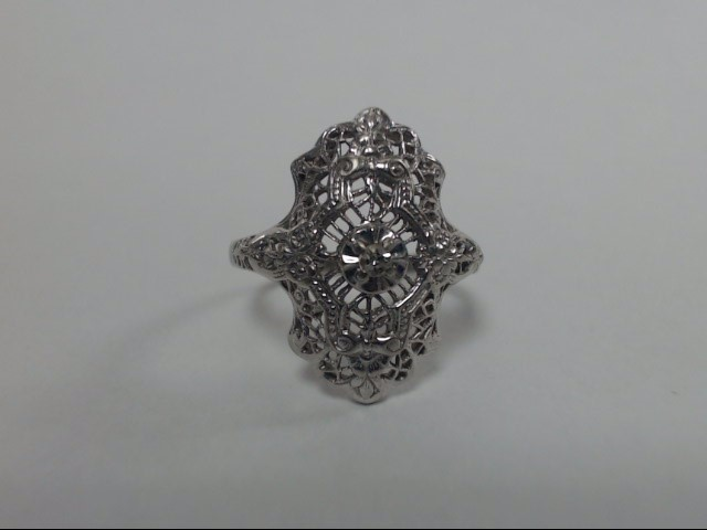 Lady's Diamond Fashion Ring .02 CT. 10K White Gold 2.6g