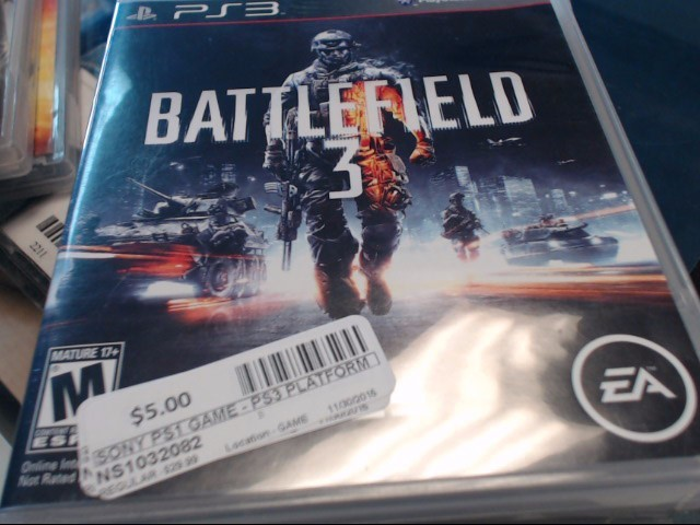 SONY PS3 BATTLEFIELD 3