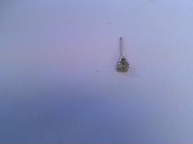 Gold-Diamond Earrings .05 CT. 14K White Gold 0.01dwt