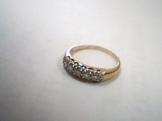Gent's Gold-Diamond Wedding Band 5 Diamonds .15 Carat T.W. 14K Yellow Gold 3g