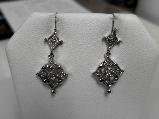 Diamond 14K White Gold 3.8g Earrings