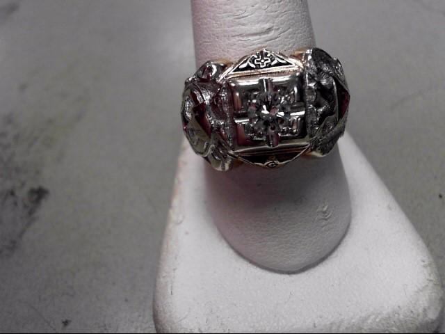 Gent's Diamond Fashion Ring .46 CT. 14K Yellow Gold 12.52g Size:11.3