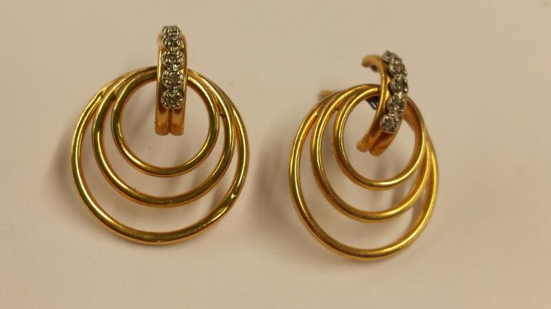 Gold-Diamond Post Earrings 10 Diamonds .20 Carat T.W. 14K Yellow Gold 1.25dwt
